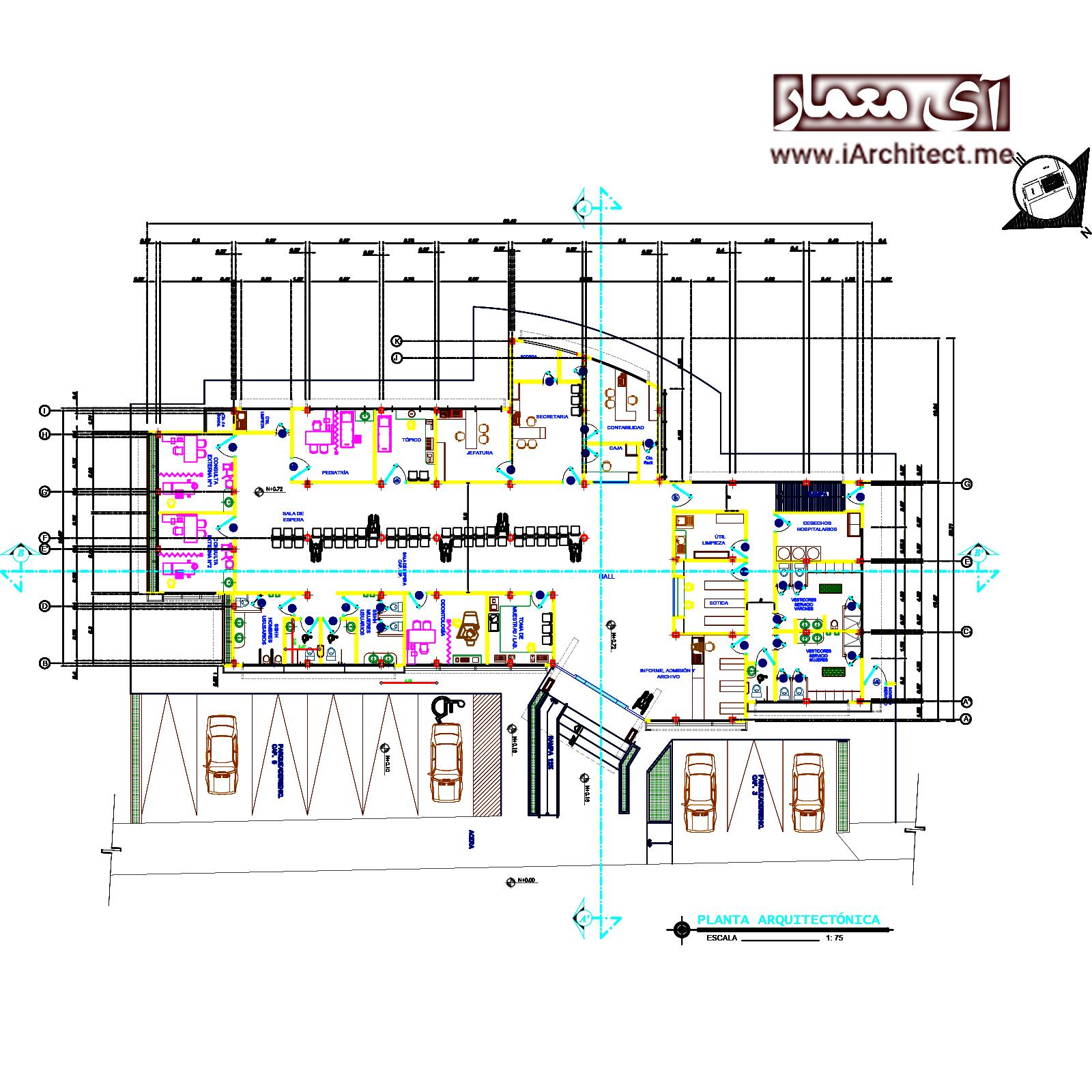 نقشه درمانگاه