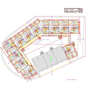 دانلود نقشه اتوکد مجتمع مسکونی