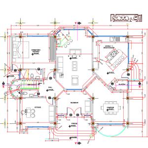 نقشه خانه ویلایی با عرض 11