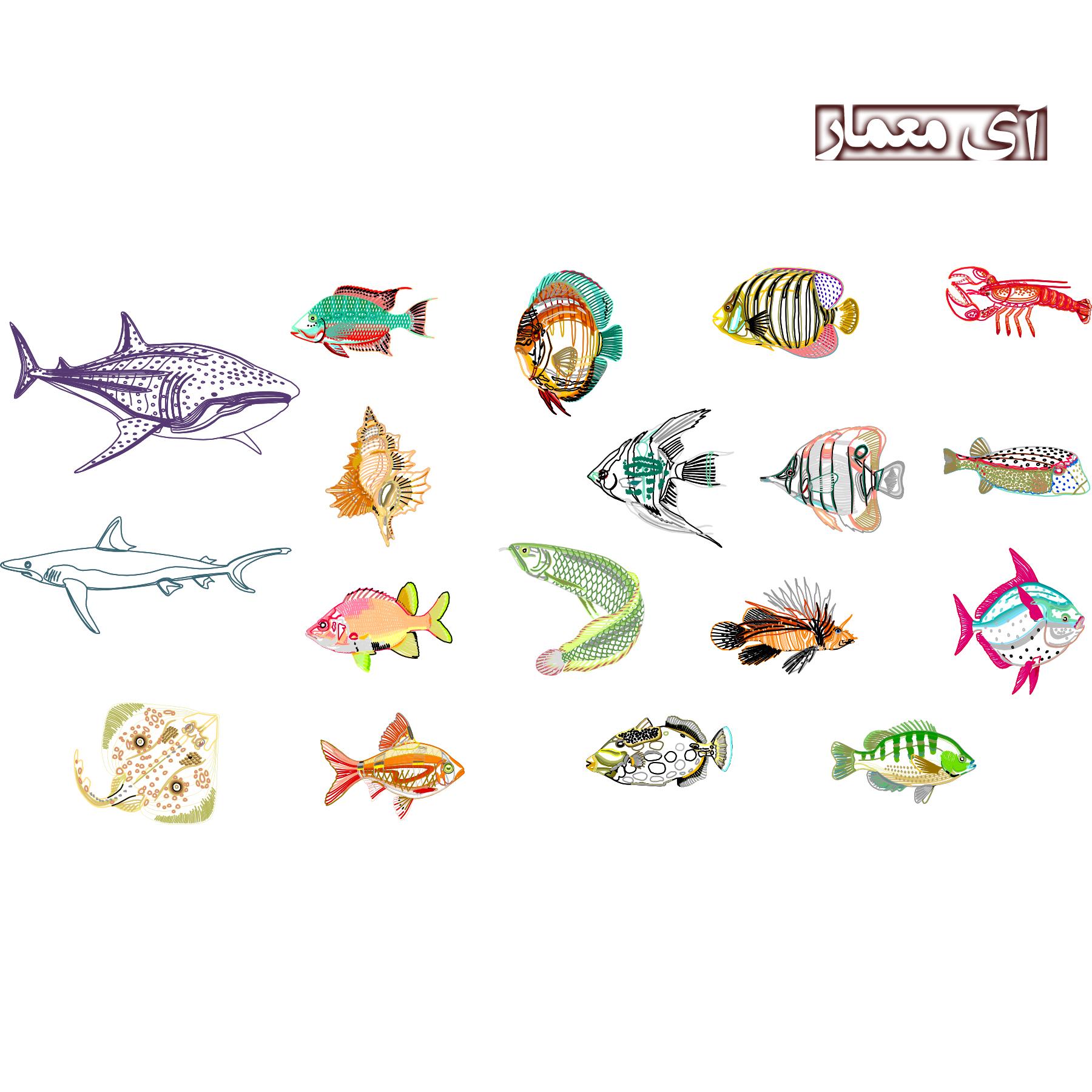 نقشه مبلمان ماهی