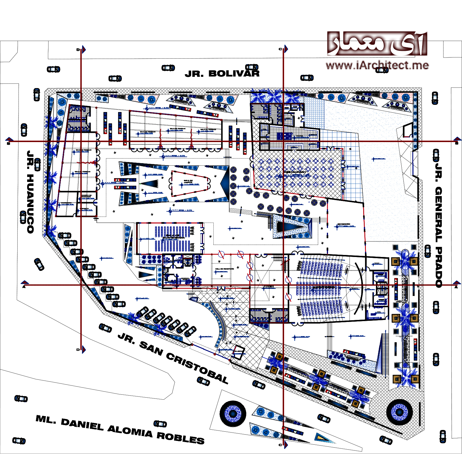 نقشه مرکز همایشات