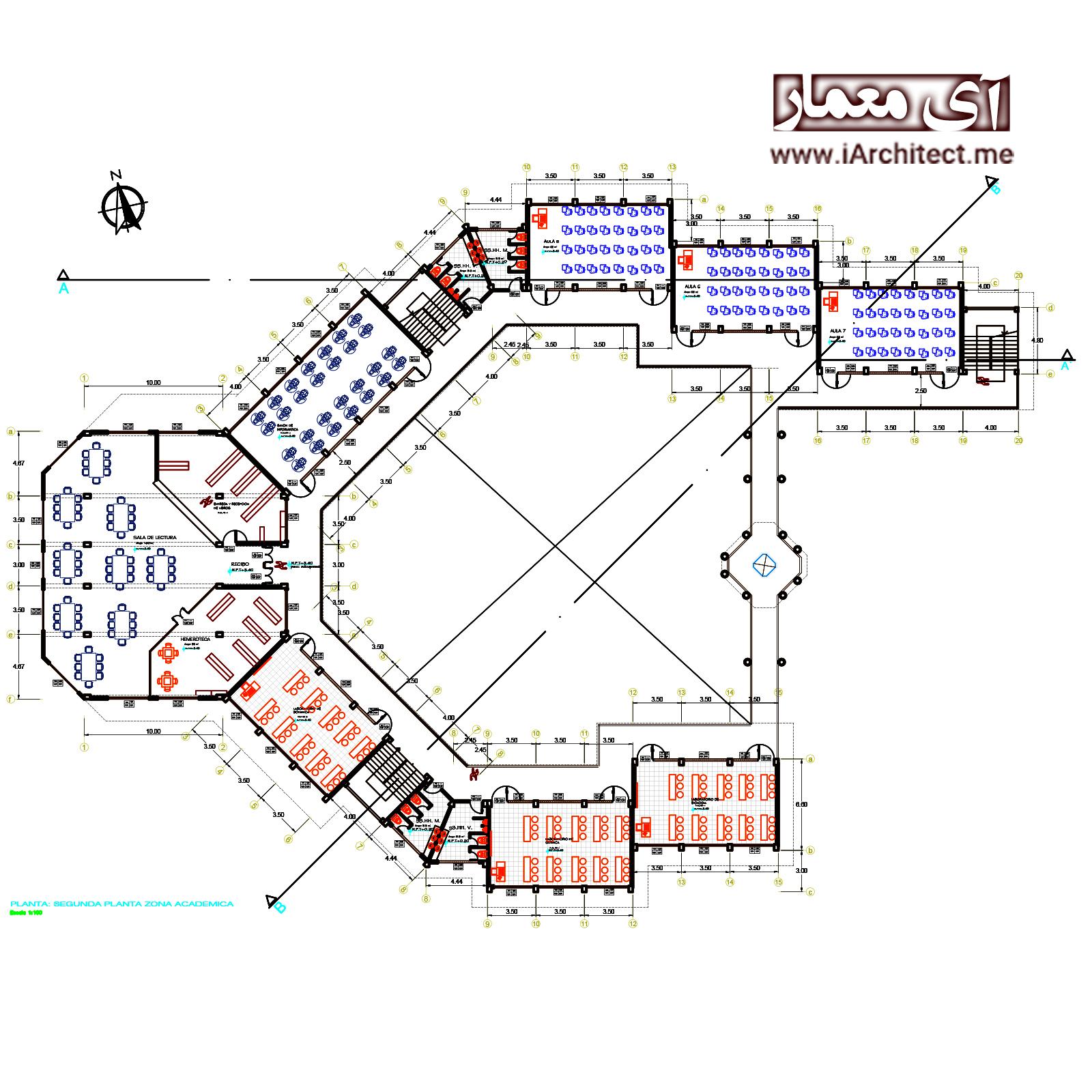 نقشه دانشکده کشاورزی