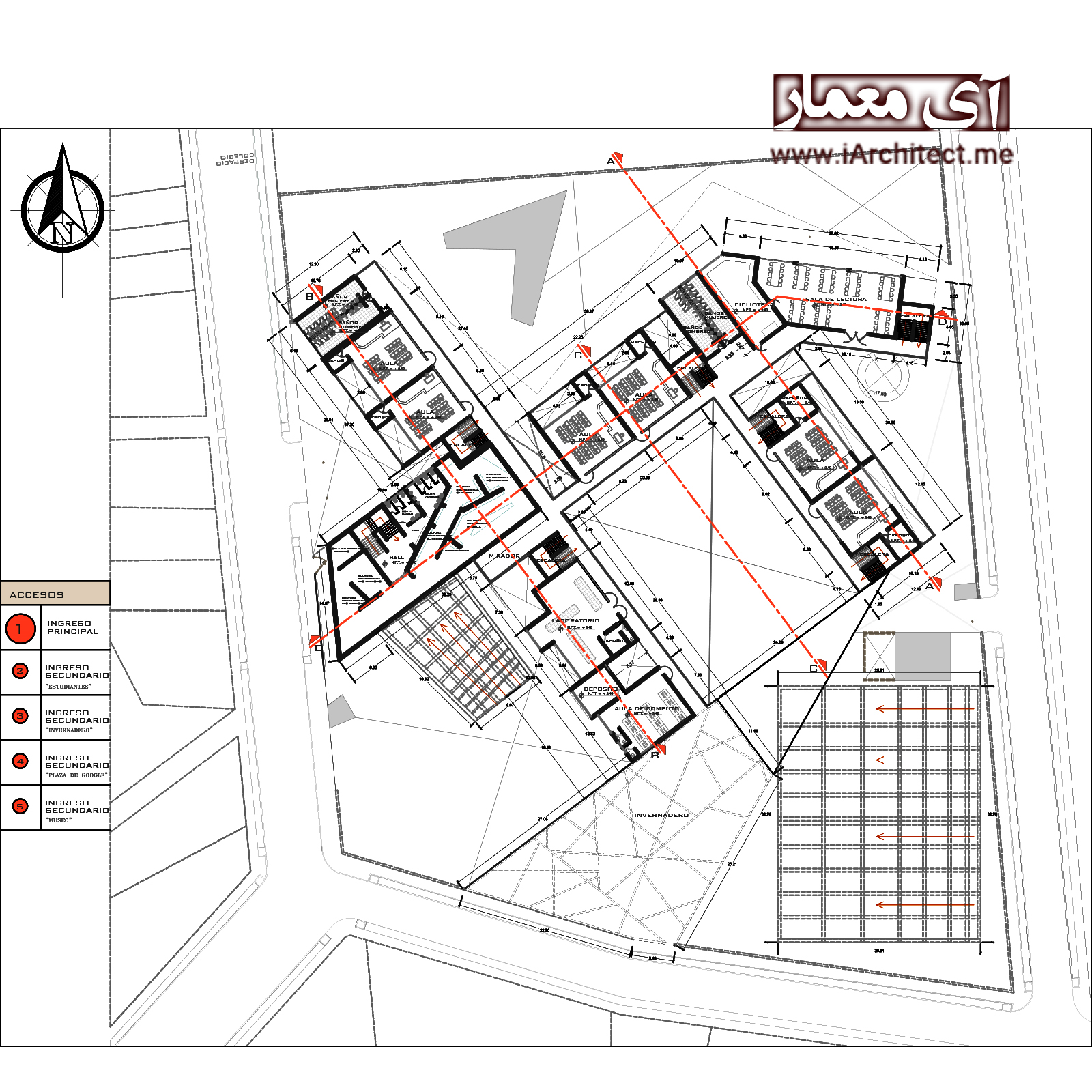 نقشه دبیرستان