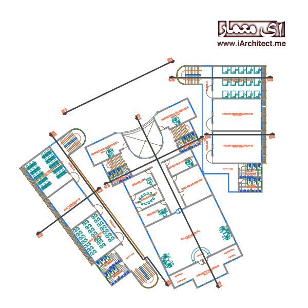 نقشه دانشکده هنر و معماری