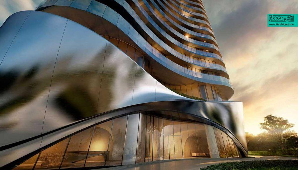 طراحی برج مسکونی لاکچری