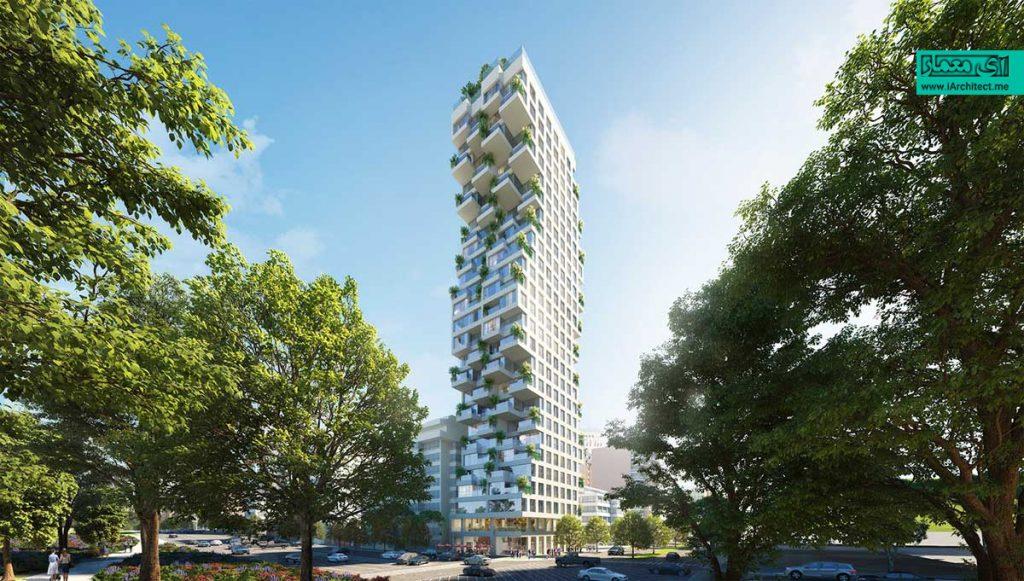 طراحی برج مسکونی فراکتالیزه شده از موشه سفدی