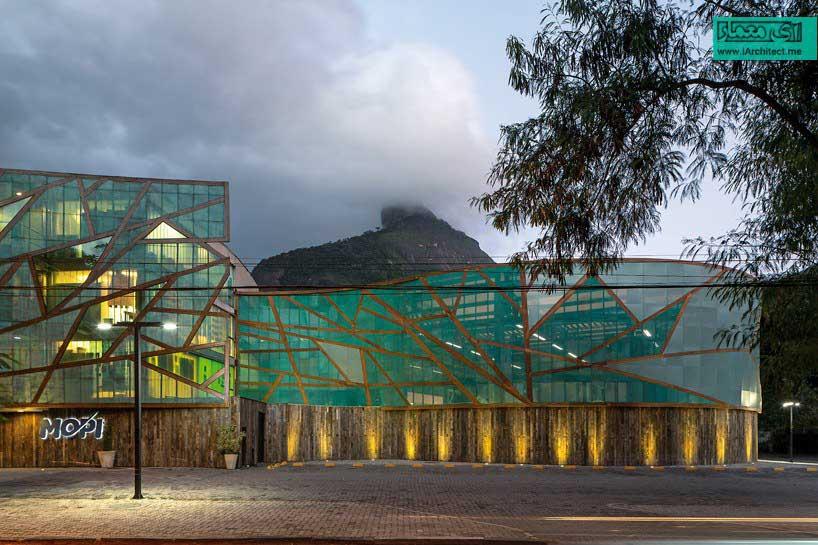 نمای شیشه ای یک مدرسه در برزیل