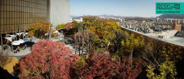طراحی پارک در طبقه ی دوازدهم برج مسکونی