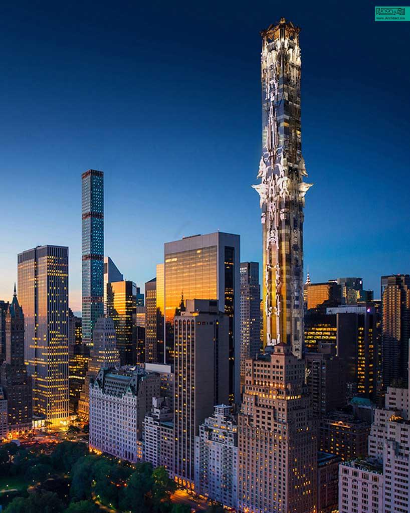 ایده یک سازه تندیس گونه در مرکز شهر منهتن