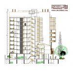 طراحی پلان مجتمع اداری-مسکونی