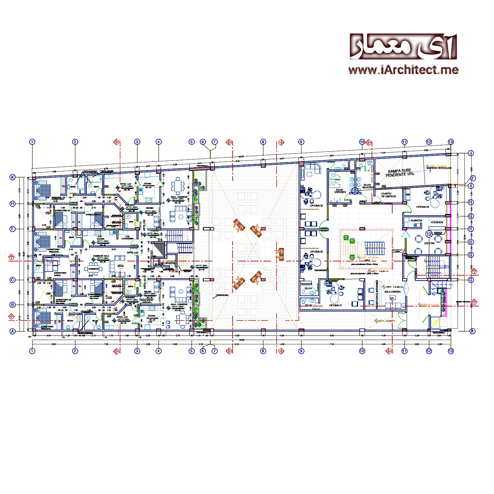 نقشه مجتمع اداری-مسکونی