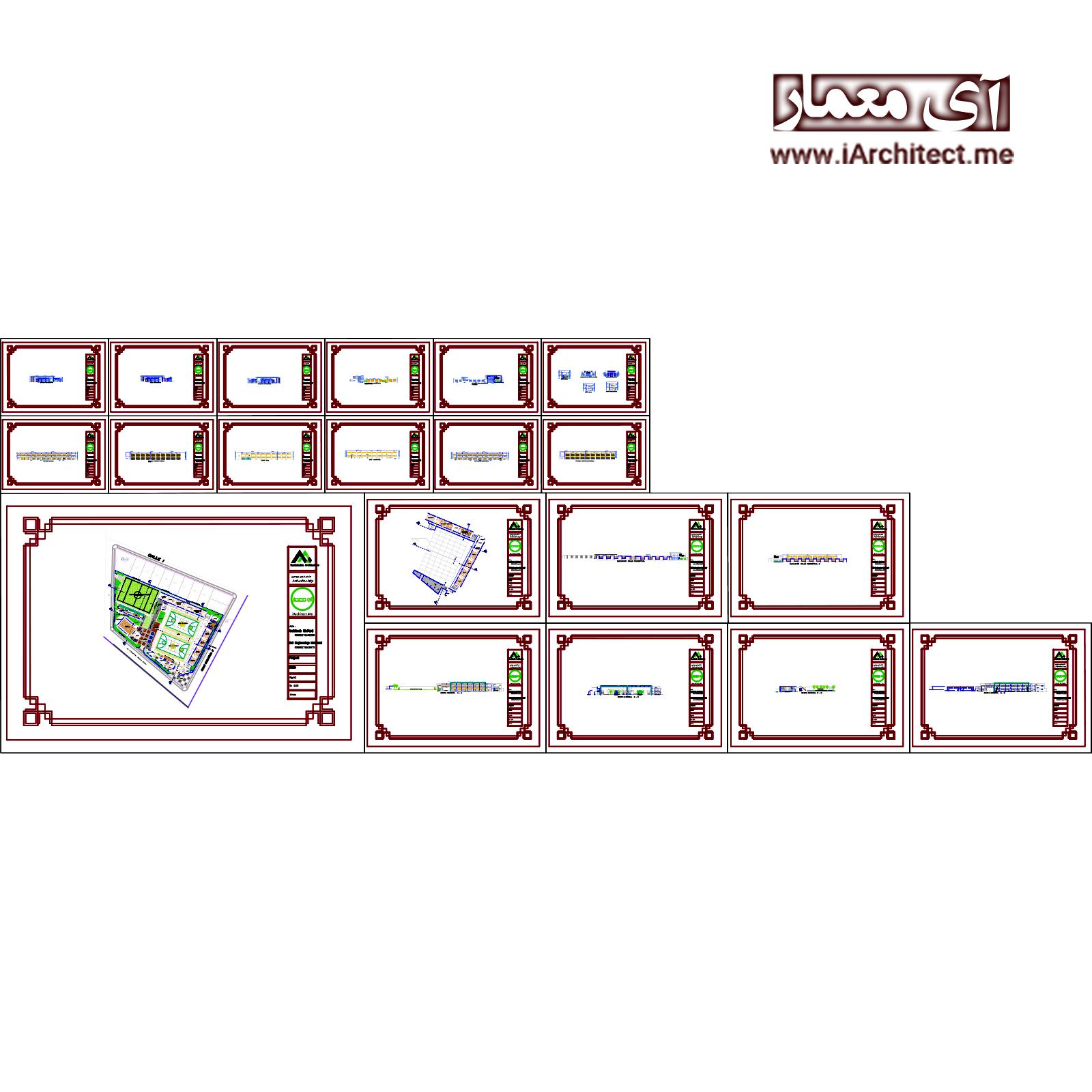 نقشه دانشکده تربیت بدنی