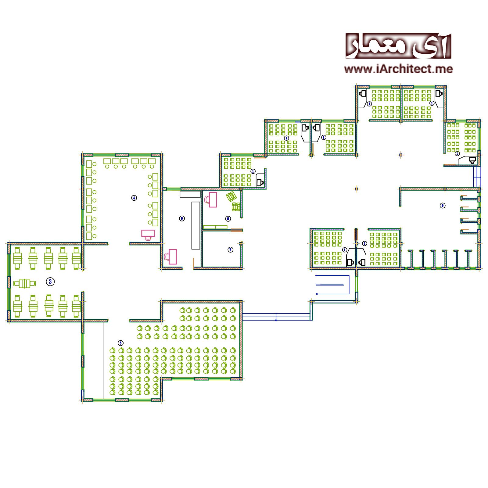 نقشه آموزشی-مدرسه