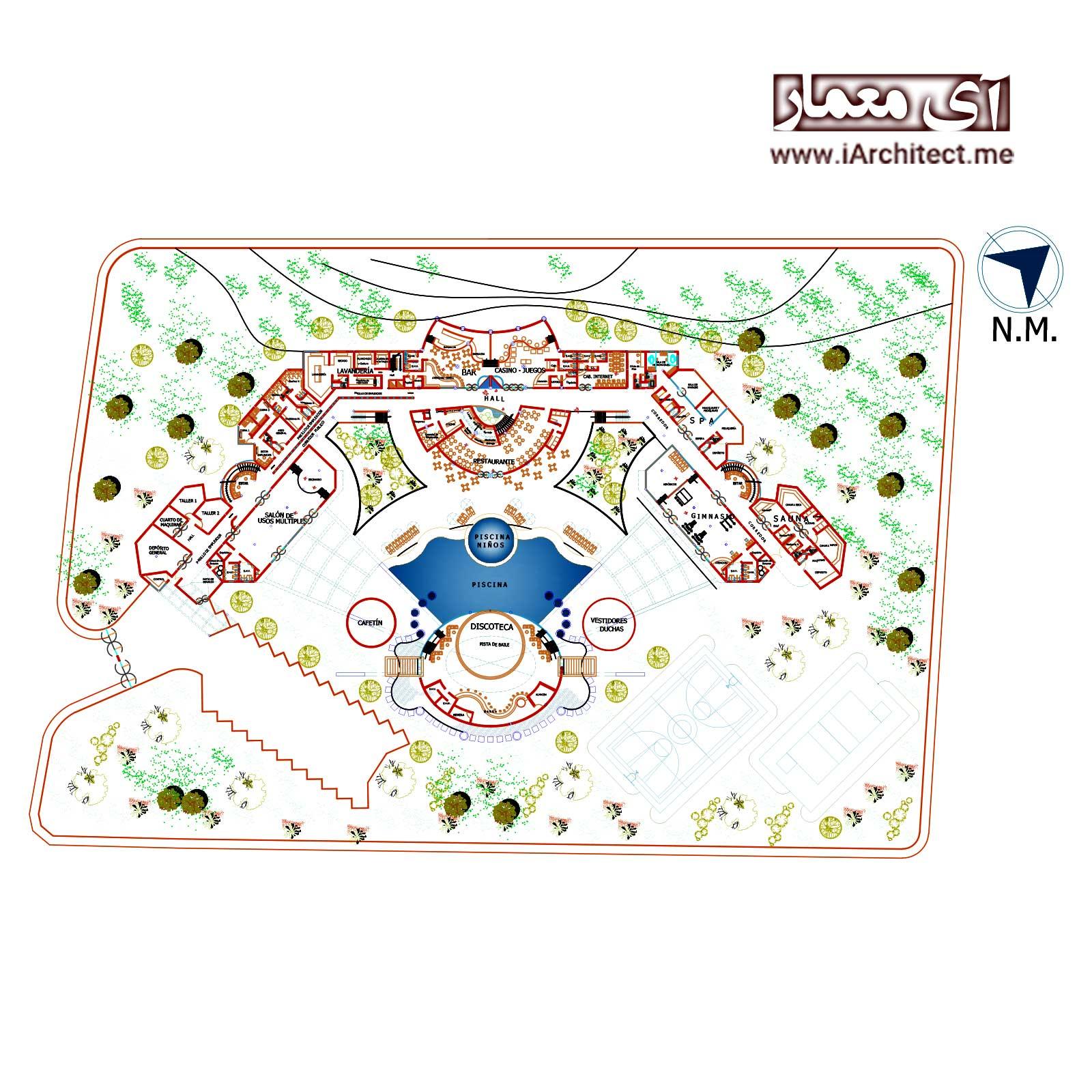 نقشه هتل 4 ستاره