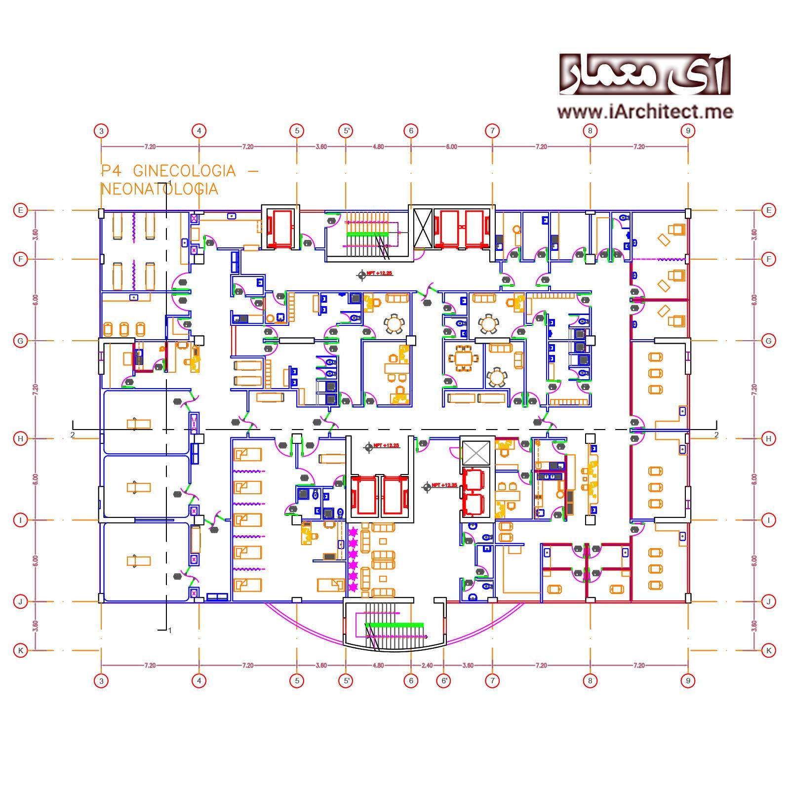 نقشه بیمارستان 12 طبقه