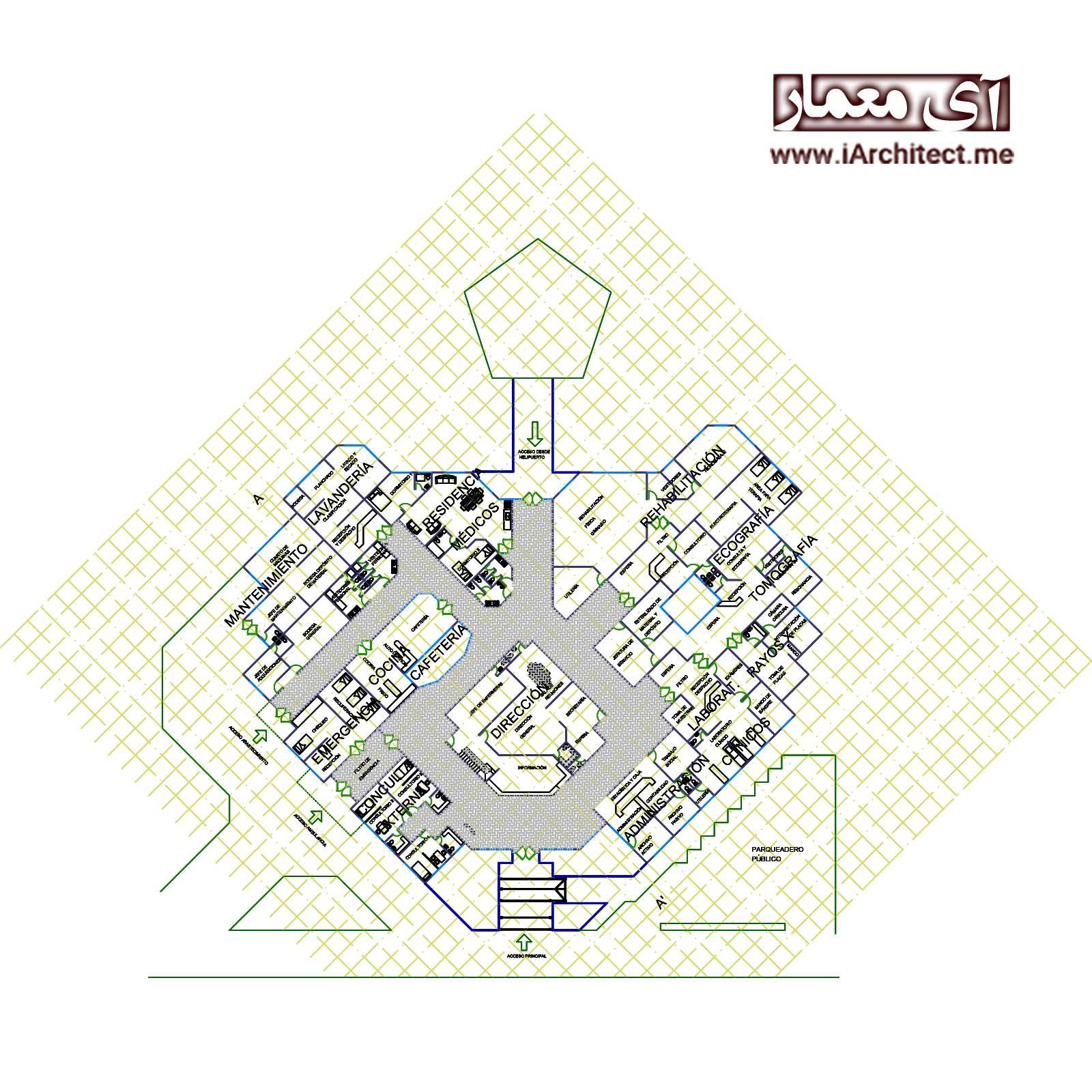 نقشه مرکز درمانی