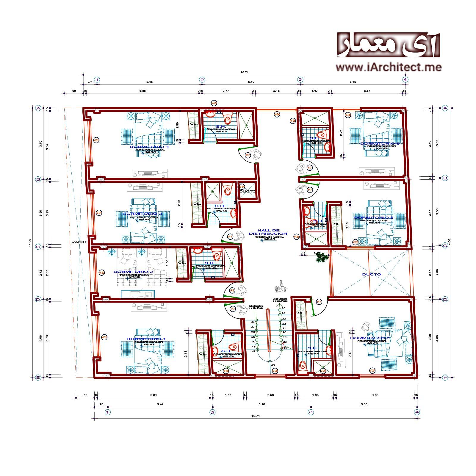 نقشه هتل