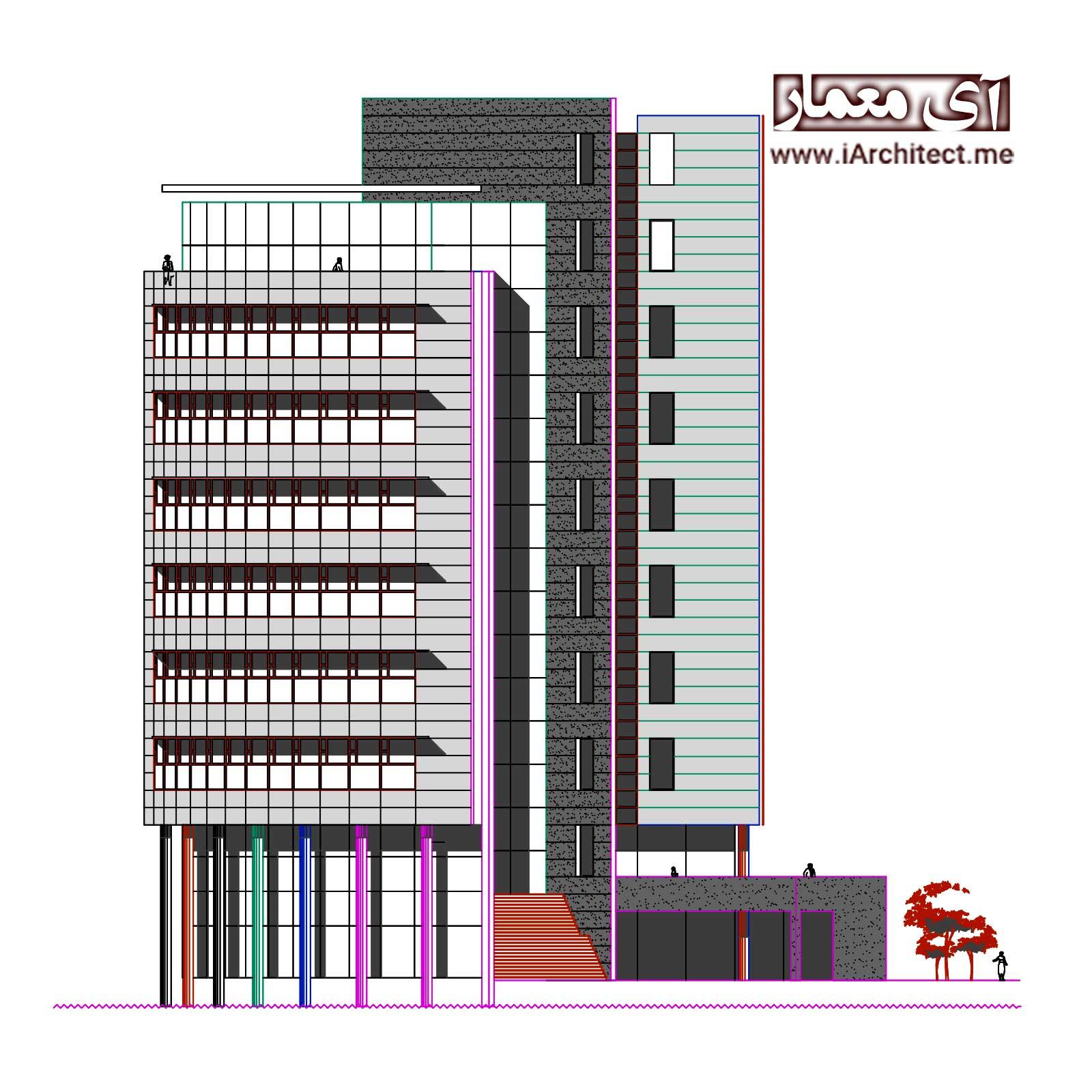 نقشه ساختمان اداری
