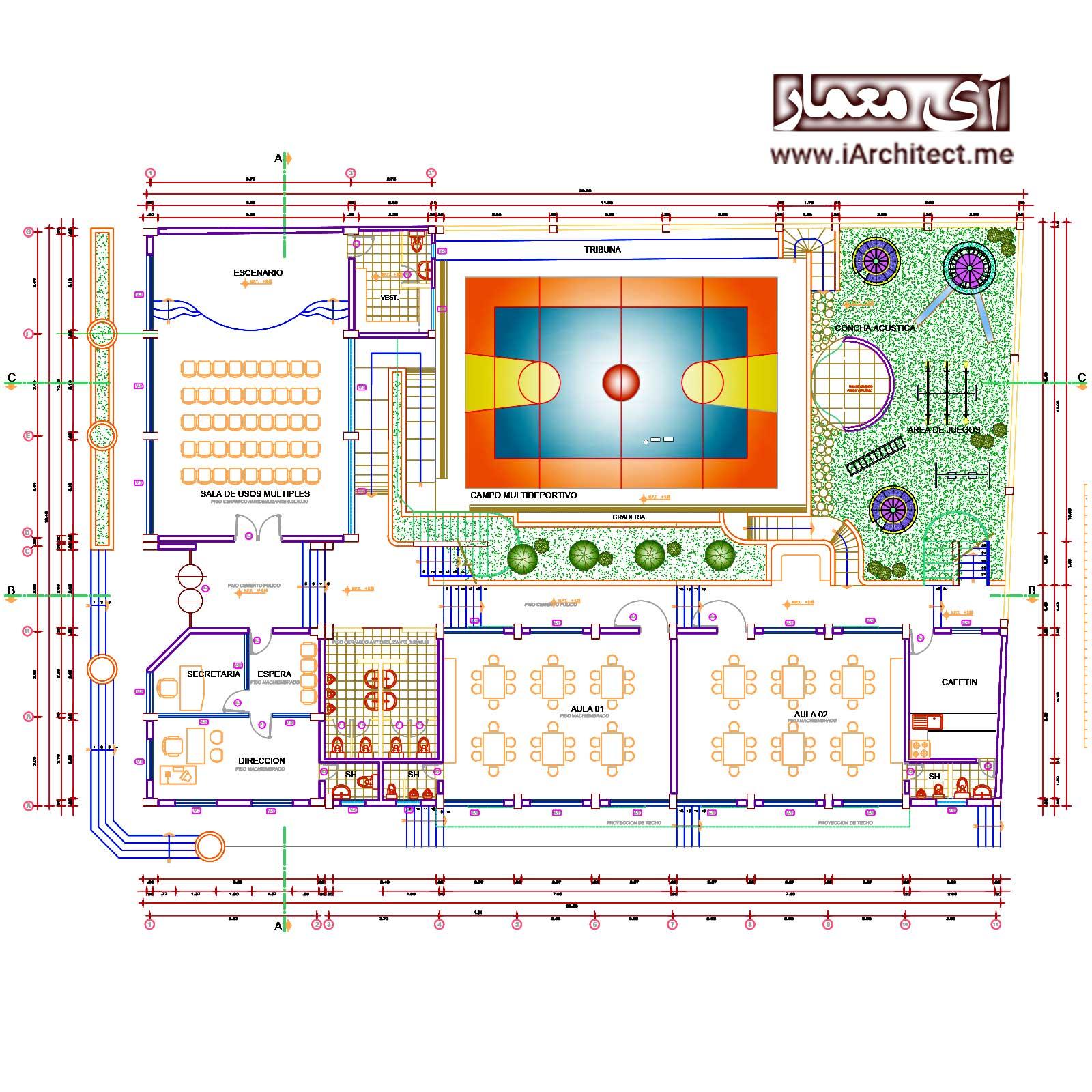 نقشه اموزشگاه