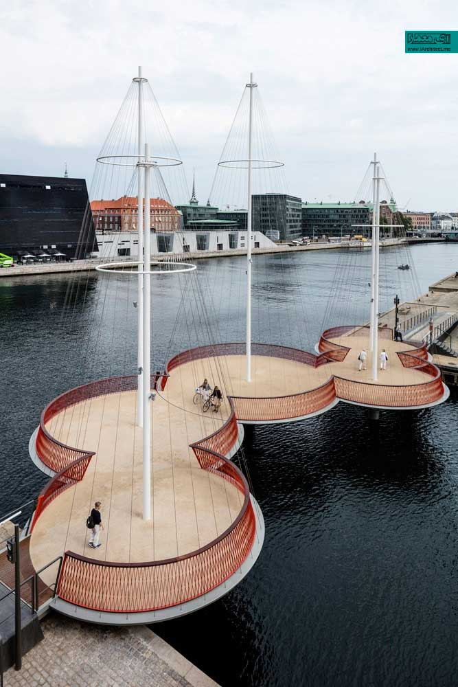 پل Cirkelbroen در کپنهاگ
