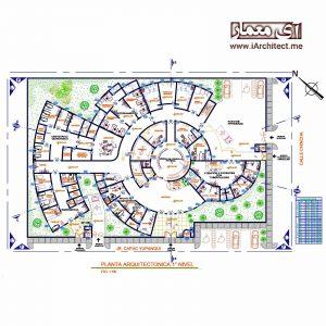 دانلود نقشه مرکز بهداشت 2 طبقه