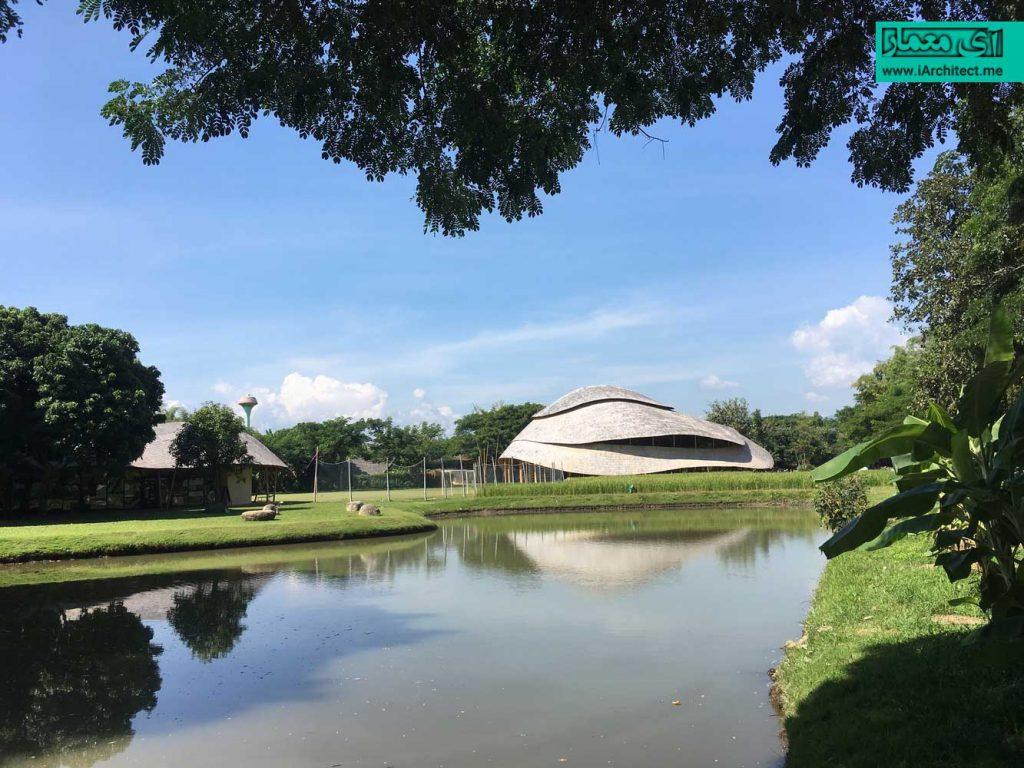 سالن ورزشی مدرسه بینالمللی پانیادن با بامبو