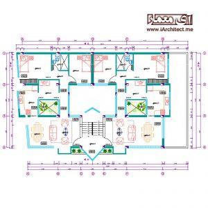نقشه مسکونی - تجاری به عرض 11 متر