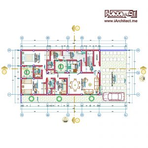 نقشه آپارتمان مسکونی 5 طبقه به عرض 10