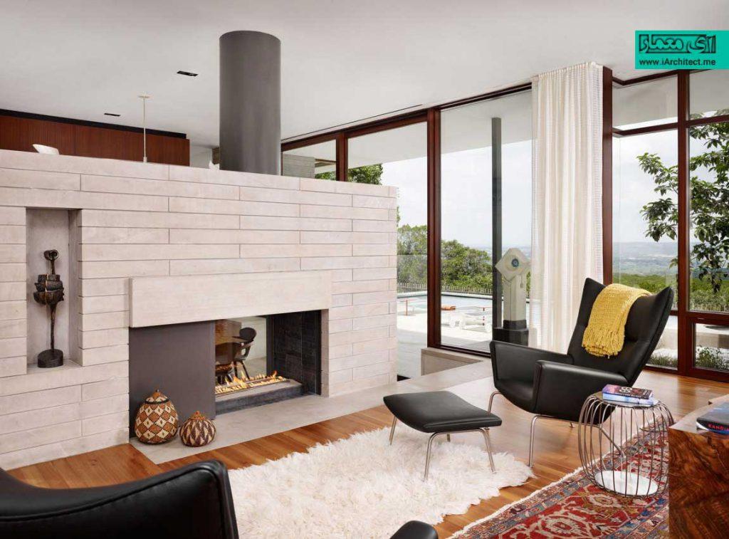 خانه ای مدرن همگام با محیط طبیعی