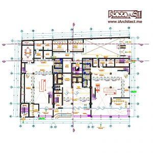 دانلود نقشه بانک 12 طبقه