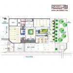نقشه ساختمان تجاری-اداری-مسکونی