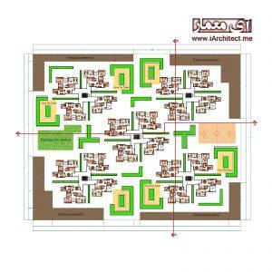 نقشه مجتمع آپارتمانی