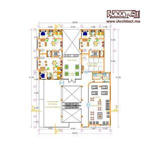 نقشه ساختمان تجاری - مسکونی