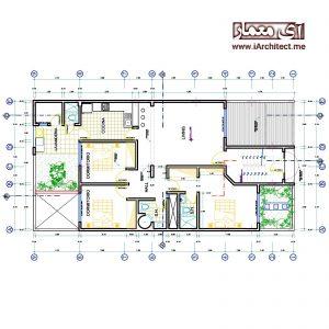 دانلود نقشه آپارتمان عرض 9