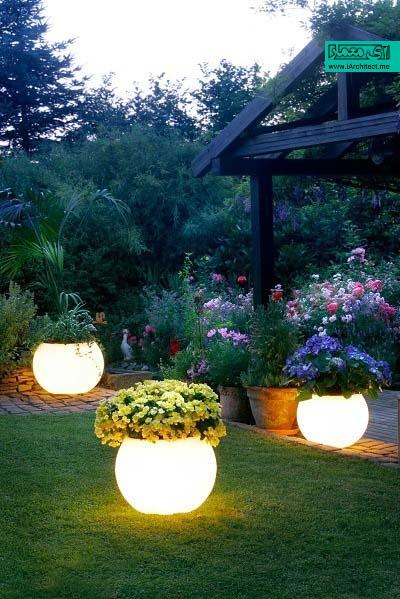 نورپردازی حیاط و پاسیو