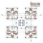 دانلود نقشه مجتمع مسکونی 2 خوابه
