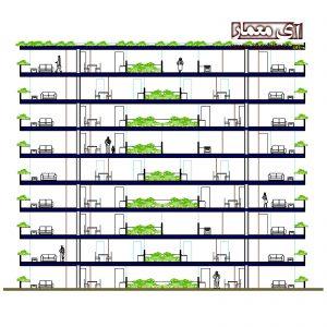 دانلود نقشه مجتمع مسکونی2 خوابه