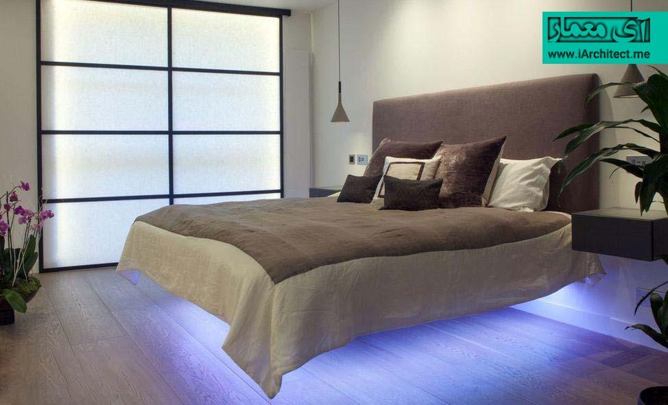 نورپردازی تخت خواب