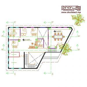 دانلود نقشه معماری بانک
