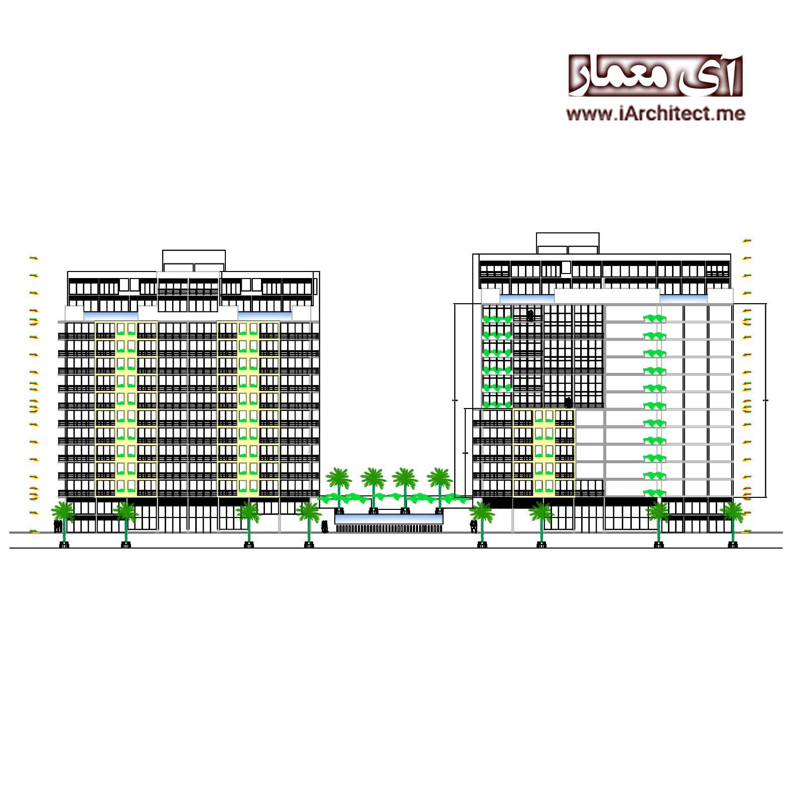 دانلود نقشه آپارتمان تجاری مسکونی