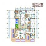 نقشه آپارتمان تجاری-مسکونی 12 طبقه