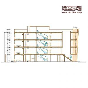 نقشه ساختمان اداری-مسکونی