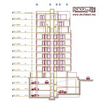 نقشه معماری آپارتمان مسکونی