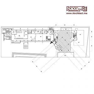 دانلود نقشه اتوکدی اداری 3 طبقه