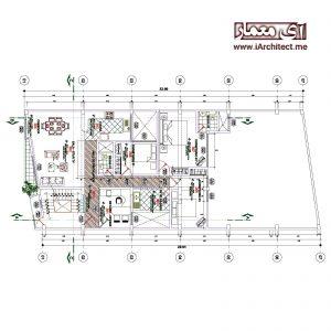 دانلود نقشه اتوکدی آپارتمان مسکونی