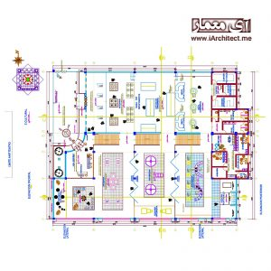 نقشه اتوکدی سالن همایش
