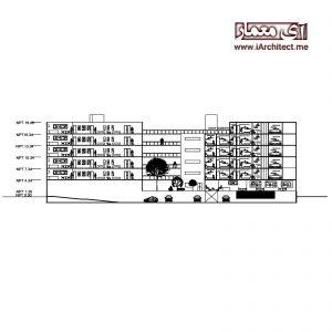 دانلود نقشه آپارتمان مسکونی