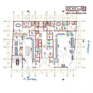 نقشه ساختمان امور مالی