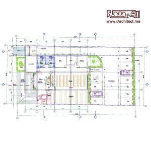نقشه مرکز فرهنگی شهرداری