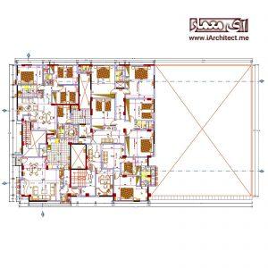 نقشه آپارتمان اداری - مسکونی